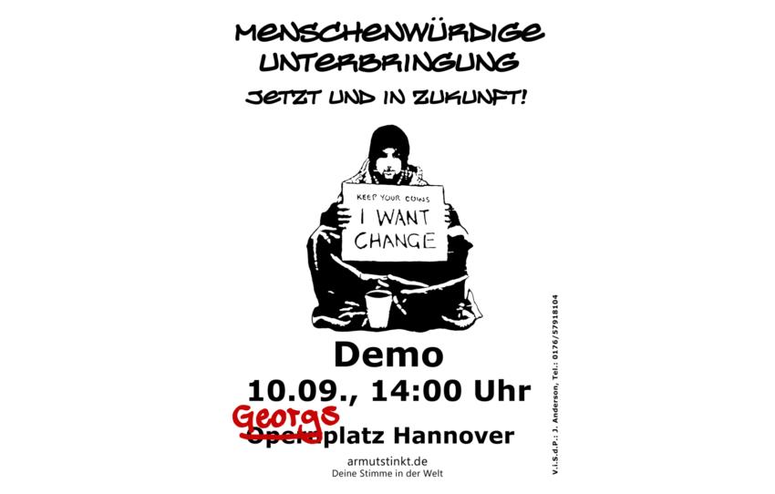 Flyer Demo am 10.09., 14 Uhr, Opernplatz Hannover
