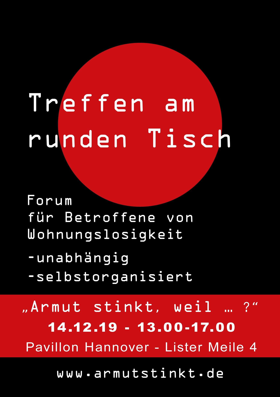 Plakat - Treffen runder Tisch im Pavillon Hannover