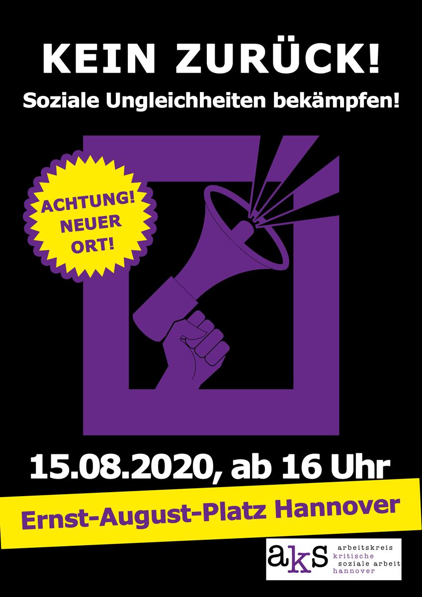 Aufruf zur Demo am 15.08.2020, 16 Uhr, Ernst-August-Platz Hannover